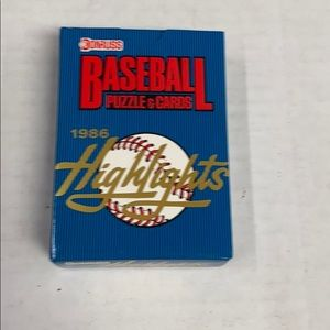 1986 Donruss baseball highlights mini set